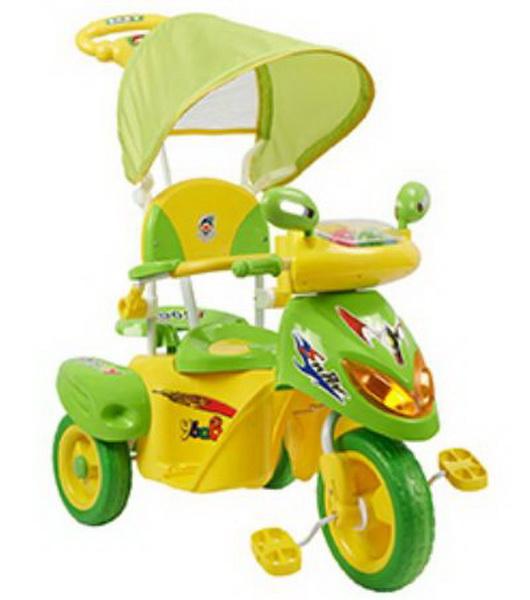 """Велосипед 10"""" Мультяшка Скутер ETF2-3 3-х колёсный, зелёный  скидка 40%"""