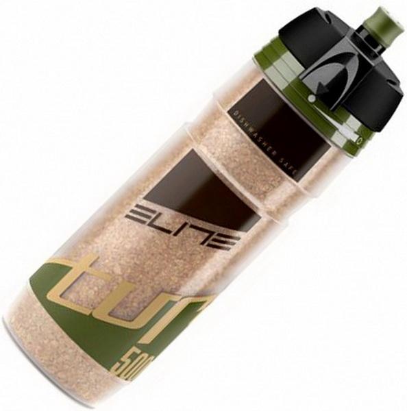 Фляга  (500ml) Elite, Turacio, EL0141304, термо 3 часа, мембранный клапан, наполнитель из пробки дерева, зелёная