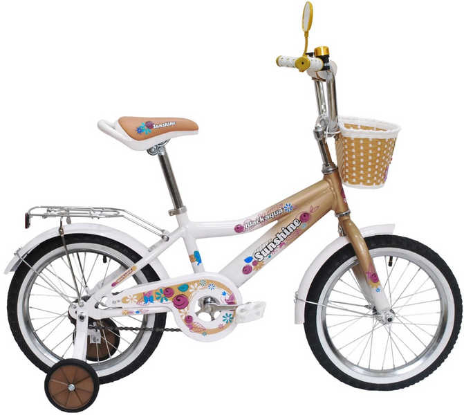 "Велосипед 12"" Black Aqua Sunshine KG1222 алюминиевая рама, бежевый"
