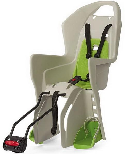Седло (детское кресло), крепление на подседельную трубу на металлических дугах, Polisport, Koolah Ffs, 22кг, зелёно-кремовое (PLS8631400022)   а