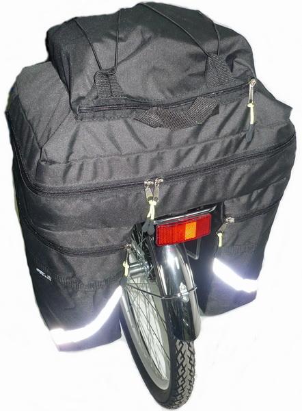 "Сумка на багажник Course, вр021.030, 30л, ""штаны"", чёрная"
