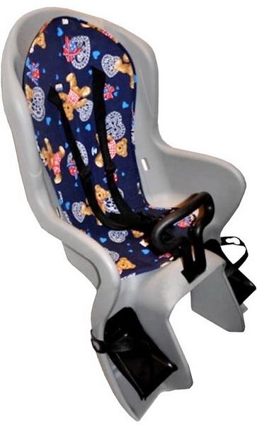 Седло (детское кресло), крепление на багажник, Geng Hung, GH-586, 22кг, серое   а