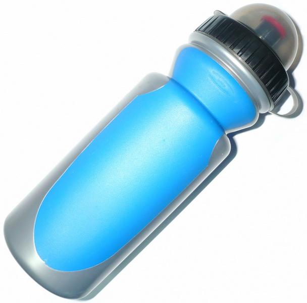 Фляга  (550ml) Day luen, V6000, с резиновыми боками и колпачком, пластиковая, синяя   а
