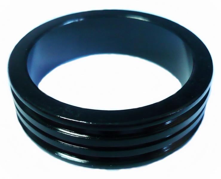 """Кольцо рулевой колонки 1-1/8"""" Н=10мм Neco AS3610-R облегчённое, AL, чёрное"""