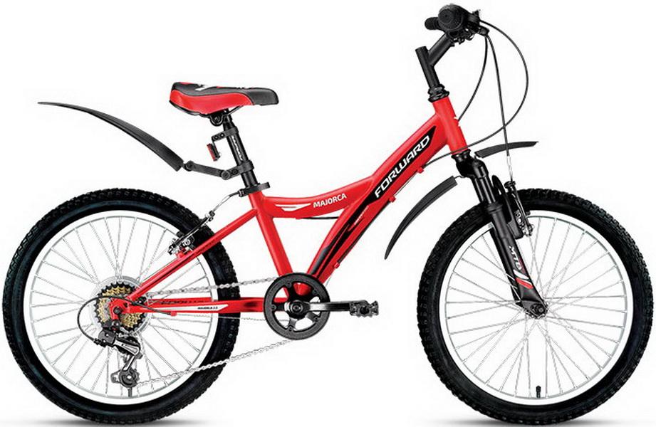 """Велосипед 20"""" Forward Majorca 3.0 6ск, St, V-br, красный"""