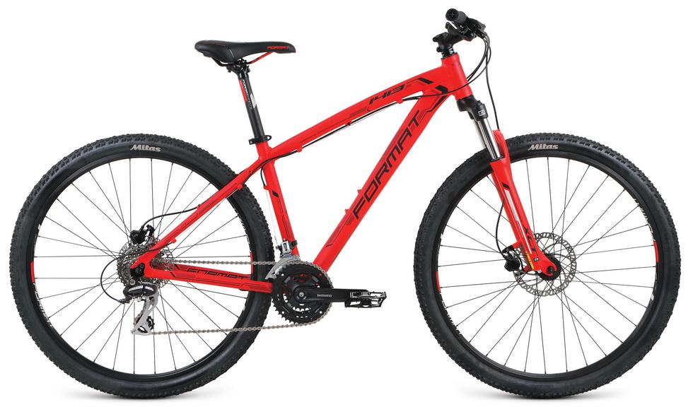"""Велосипед 29"""" Format 1413 (L"""") 24ск, AL, Disc, красный"""