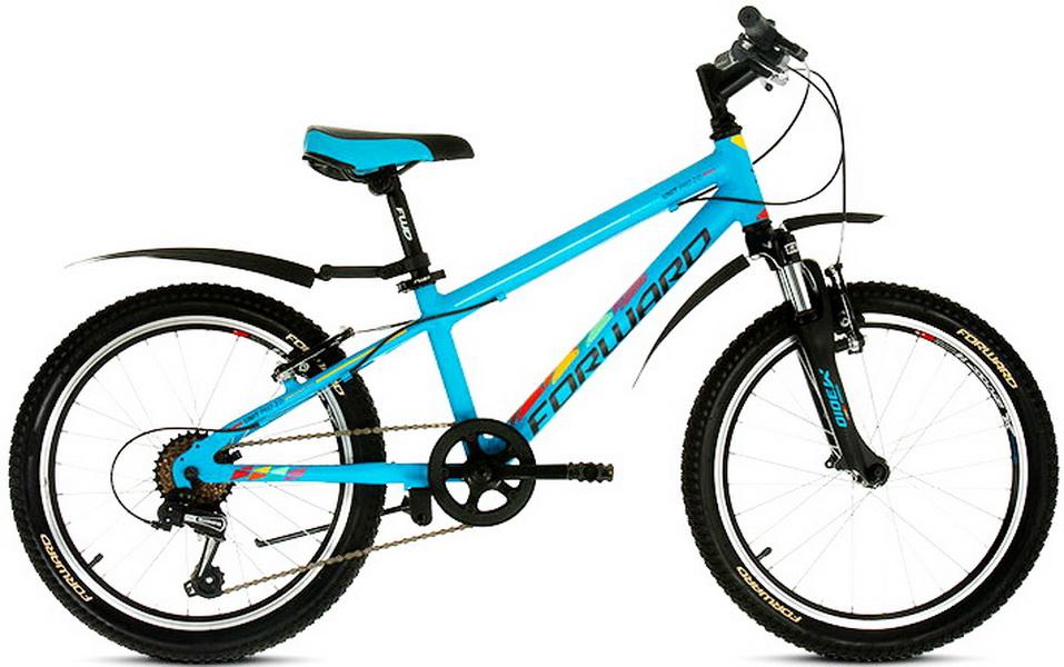 """Велосипед 20"""" Forward Unit Pro 2.0 6ск, алюминиевая рама, V-br, голубой"""