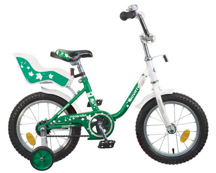 """Велосипед 14"""" Novatrack Maple Ul зелёный"""