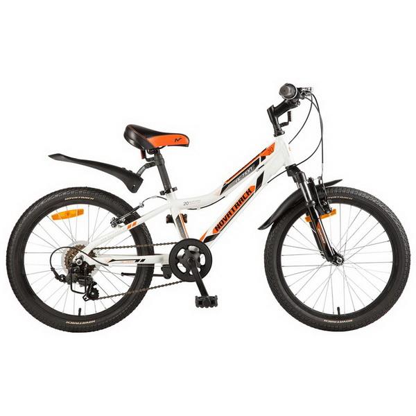 """Велосипед 20"""" Novatrack Action, 6ск, алюминиевая рама, белый"""