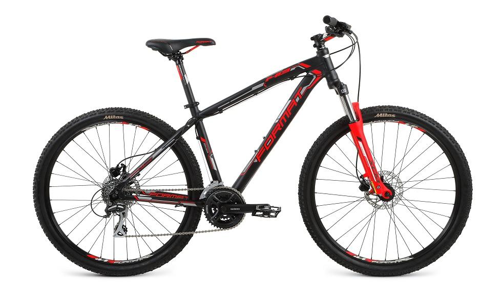 """Велосипед 27.5"""" Format 1413 (S"""") 24ск, AL, Disc, чёрный, модель 2017"""