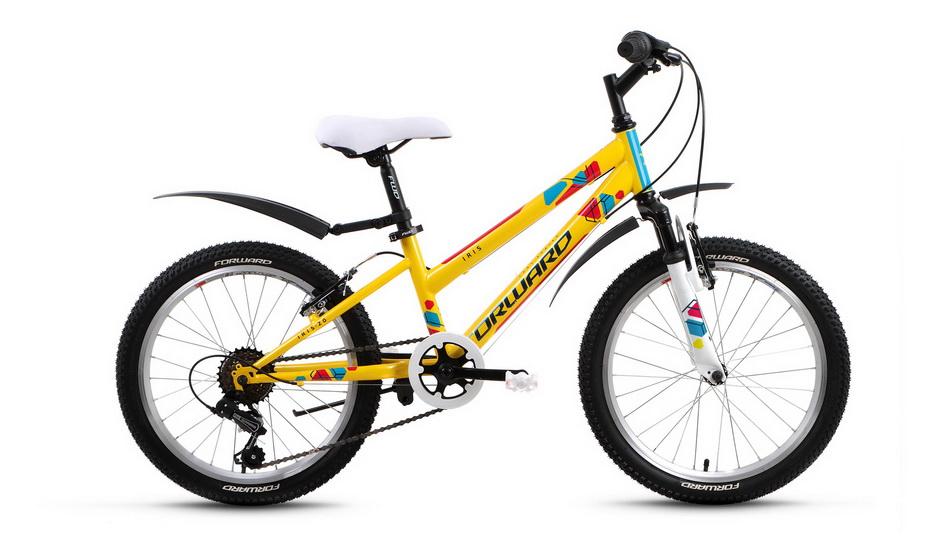 "Велосипед 20"" Forward Iris 6ск, St, V-br, жёлтый"