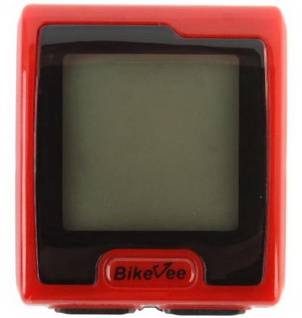 Велокомпьютер Bike Vee, BKV-7000, 9 функций, беспроводной, с подсветкой, красный   ф