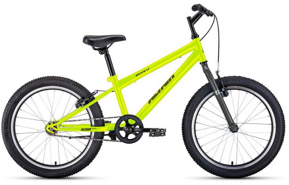 """Велосипед 20"""" Altair MTB HT 1.0 1ск, St, V-br, зелёно-серый"""