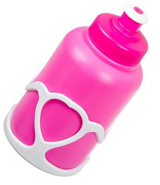 Фляга  (200ml) STG, X95401, розовая + флягодержатель белый   г