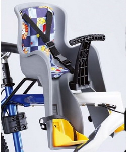 Седло (детское кресло), крепление на раму, GH-908E, 15кг, серое