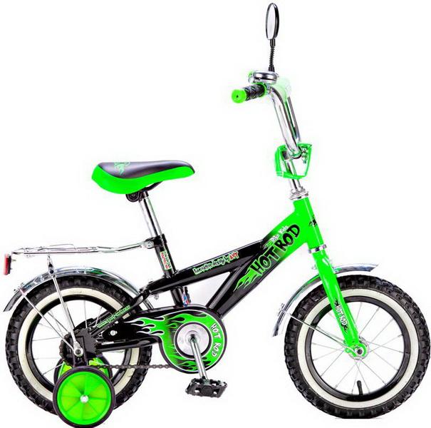 """Велосипед 12"""" Black Aqua Hot-Rod KG1206 зелёный"""