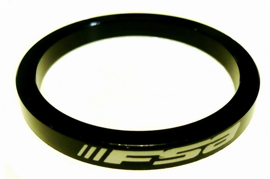 """Кольцо рулевой колонки 1-1/2"""" H=5мм FSA AL, чёрное"""