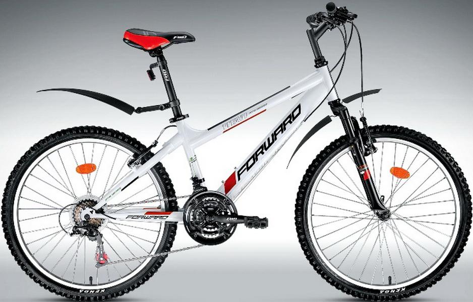 "Велосипед 24"" Forward Titan 2.0 18ск, St, V-br, белый, ""low"""