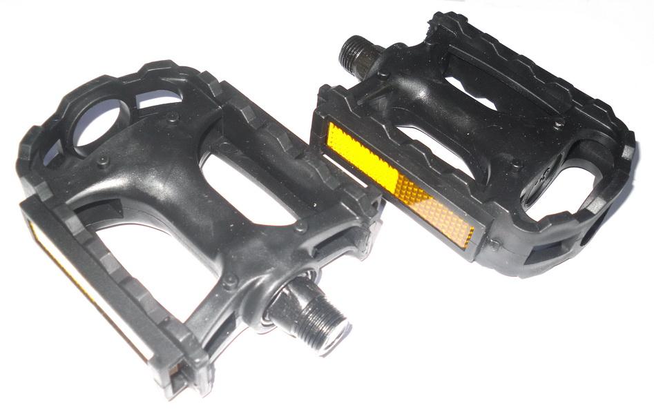 Педали 15014 (PD09) пластиковые, чёрные   ч