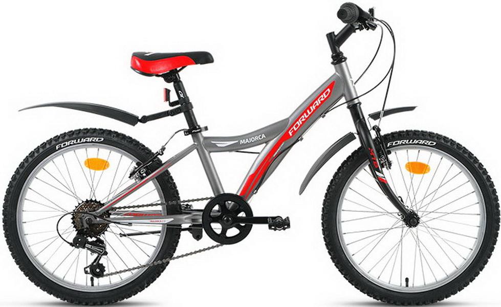 """Велосипед 20"""" Forward Majorca 2.0 6ск, St, V-br, серый"""