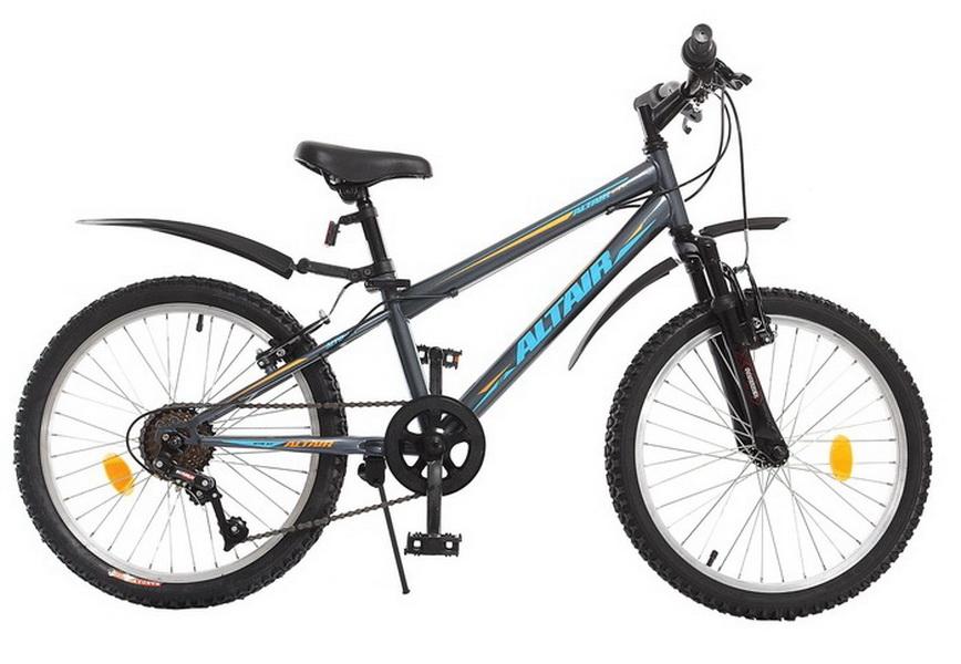 """Велосипед 20"""" Altair MTB HT JR 6ск, St, V-br, серый, 2017г."""