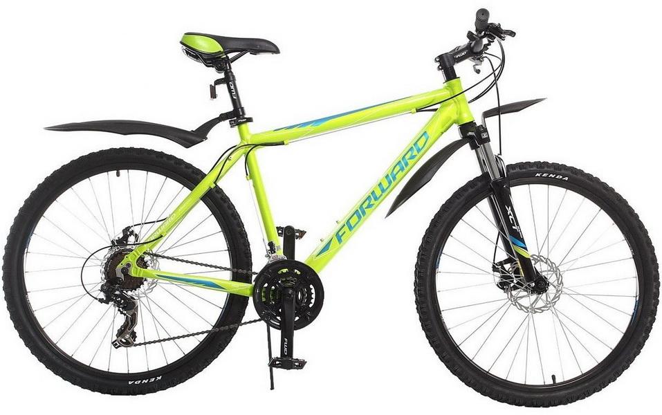 "Велосипед 26"" Forward Apache 2.0 (21"") 21ск, AL, Disc, зелёный, 2017г."