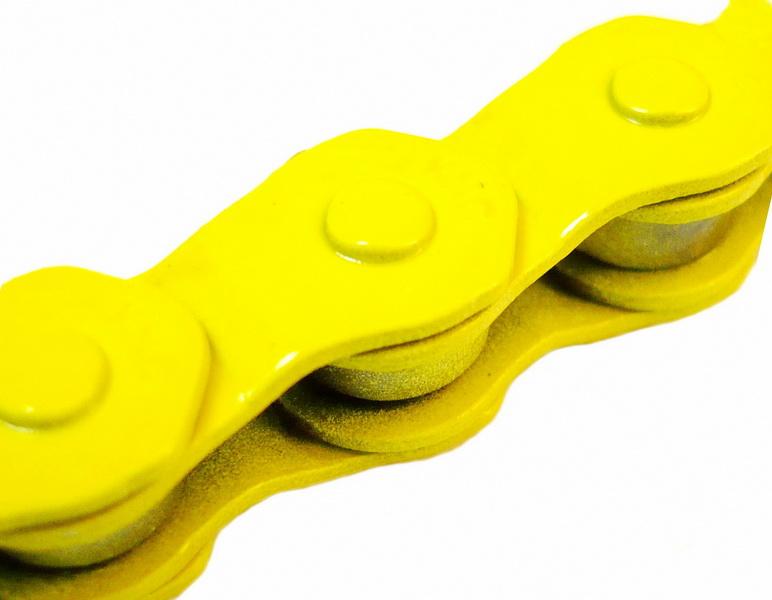 """Цeпь BMX 100зв.1/2""""х1/8"""" KMC HL710, Half-Link, жёлтая   а"""