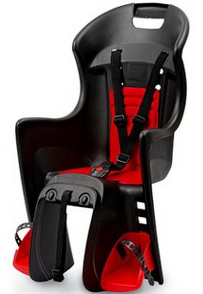 Седло (детское кресло), крепление на багажник, Polisport, Boodie Rms, 22кг, чёрно-красное (PLS8630700002)   а