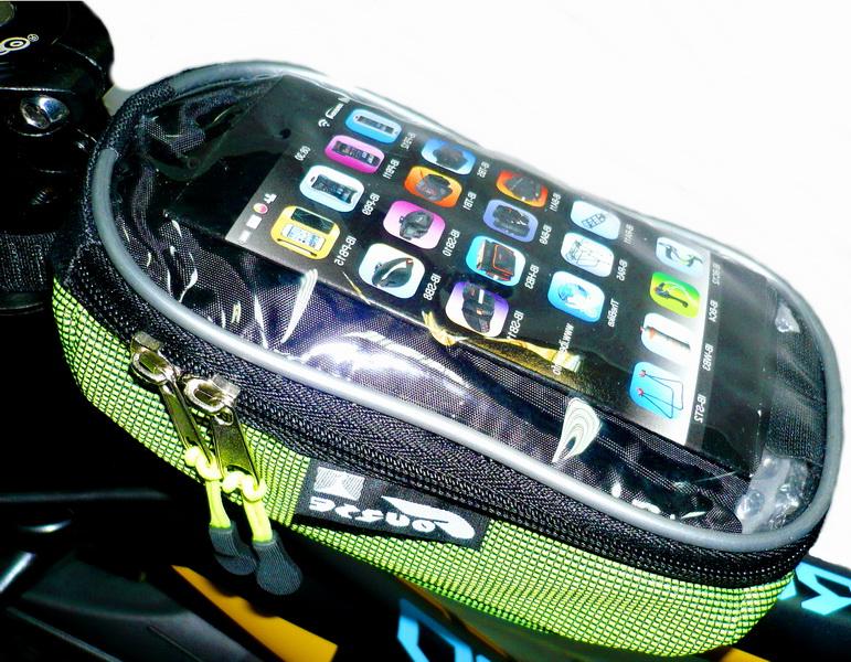 Сумка на раму Course, мастер, вс072.019, с карманом для смартфона, зелёная