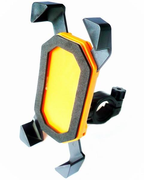 Держатель на руль Nelc, Nelc-360, для i-Phone любого размера, чёрно-оранжевый   а