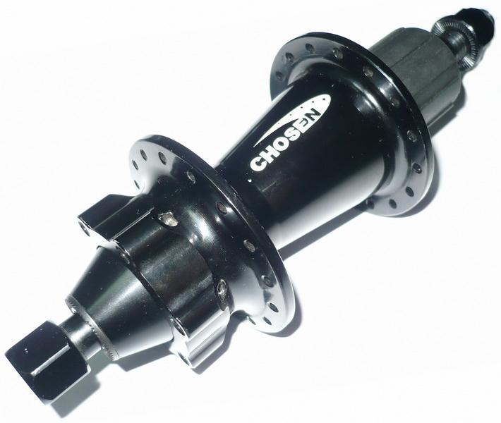 Втулка DH задняя 32Н, OLD-150мм, Ø12мм, под диск. тормоз, кассету, 4 прома, Chosen, DA4352B, 8-10ск., AL7005, чёрная  **