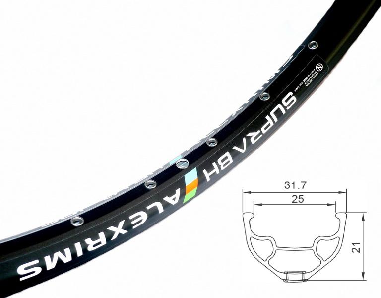 "Обод Alexrims 26"" (559х25) 36Н Supra BH  610гр, под дисковый тормоз, чёрный"