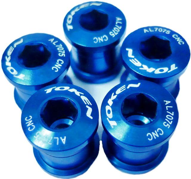 Компоненты Бонки М8-0.75х8.5L AL7075 Token, TK-AL083, синие (5шт.)   а
