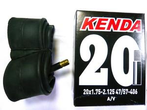 "Kenda велокамера 20""х1.75/2.125 (406-47/57) 0.87мм A/V-33мм (511307/512662)"