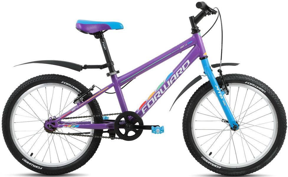 "Велосипед 20"" Forward Unit 1.0 1ск, St, V-br, фиолетовый, 2018г."