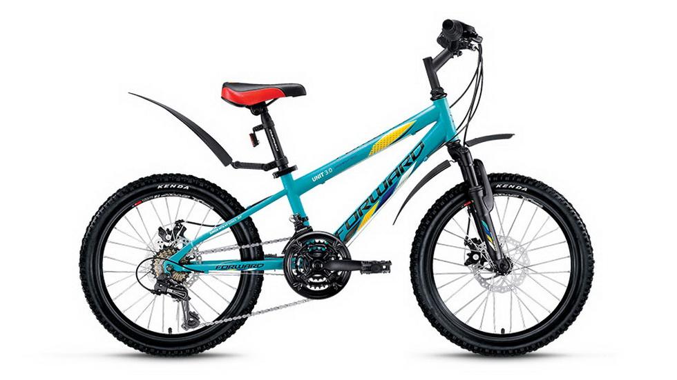 """Велосипед 20"""" Forward Unit 3.0 18ск, St, Disc, бирюзовый, 2018г."""