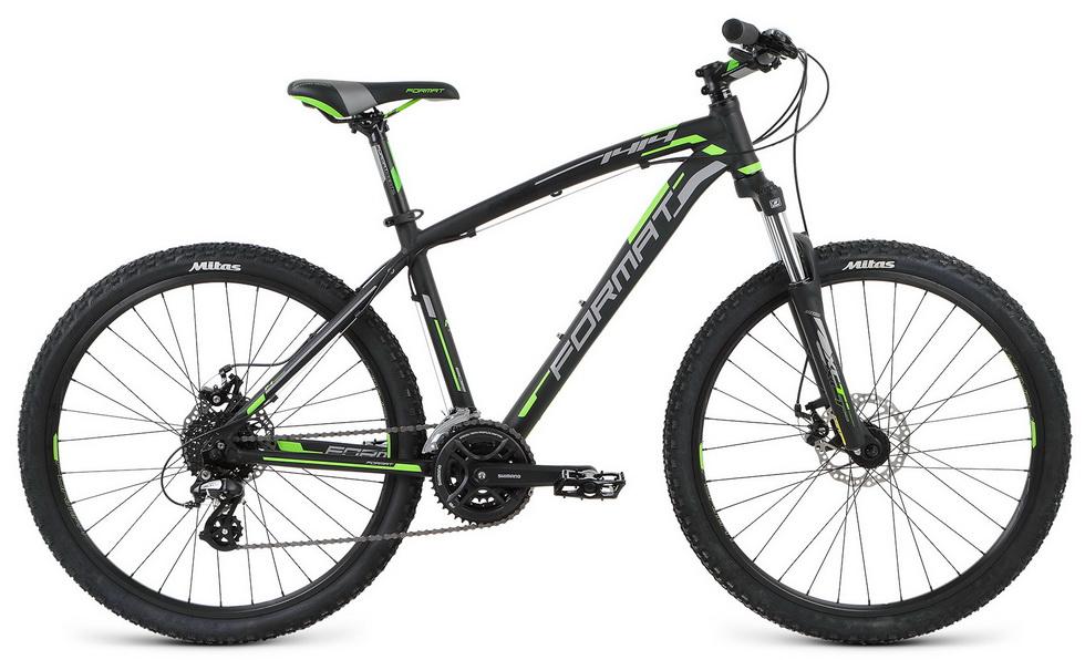 """Велосипед 26"""" Format 1414 (L"""") 24ск, AL, Disc, чёрный, модель 2016"""
