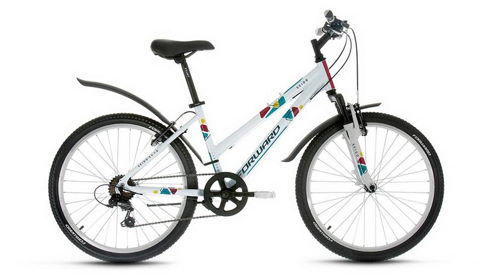 """Велосипед 24"""" Forward Seido 1.0 6ск, алюминиевая рама, V-br, белый"""