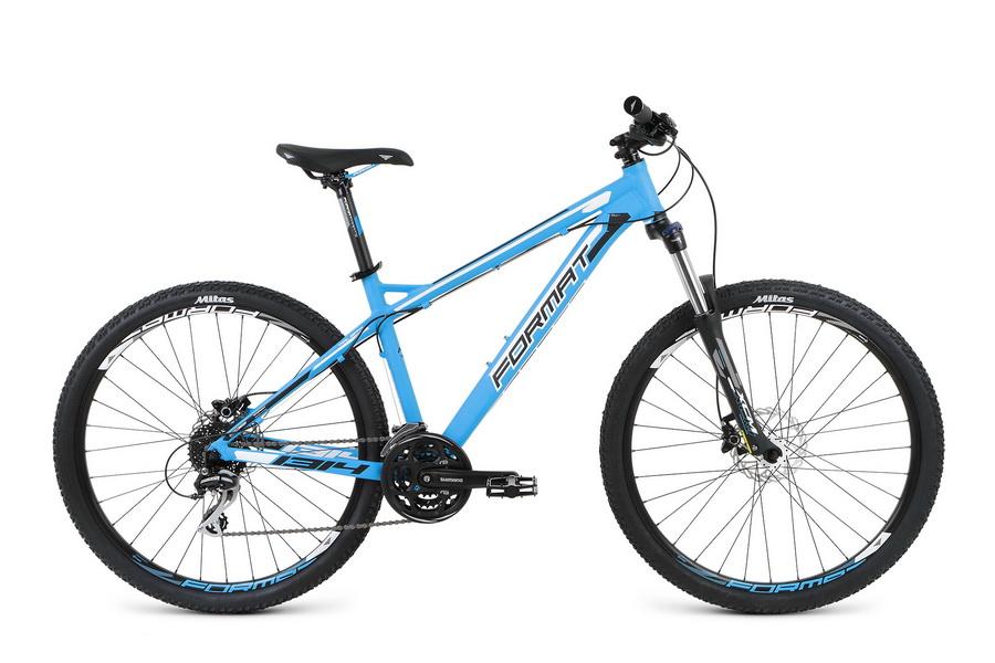 """Велосипед 27.5"""" Format 1314 (M"""") 24ск, AL, Disc, синий, модель 2016"""