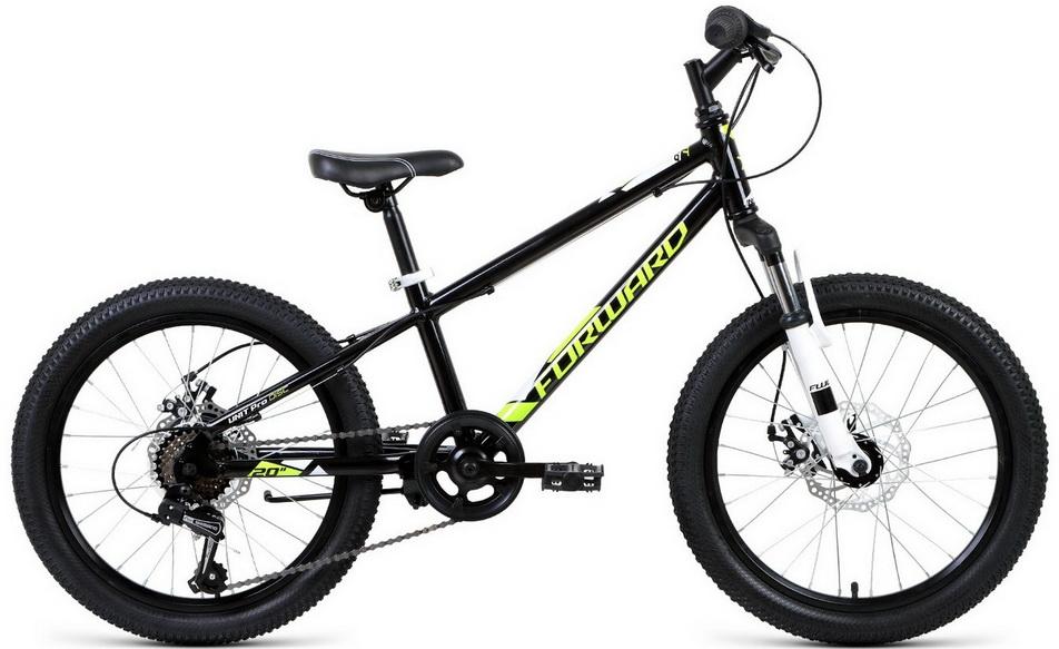 """Велосипед 20"""" Forward Unit Pro 2.0 6ск, алюминиевая рама, V-br, чёрный"""