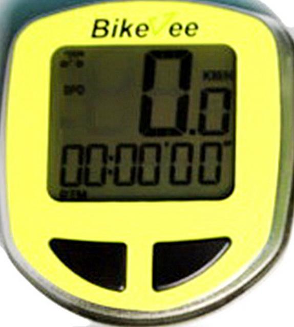 Велокомпьютер Bike Vee, BKV-1000, 13 функций, беспроводной, жёлтый