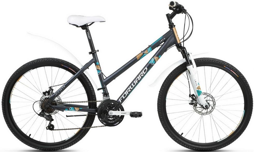 """Велосипед 26"""" Forward Iris 2.0 (17"""") 21ск, St, Disc, серый, 2018г."""