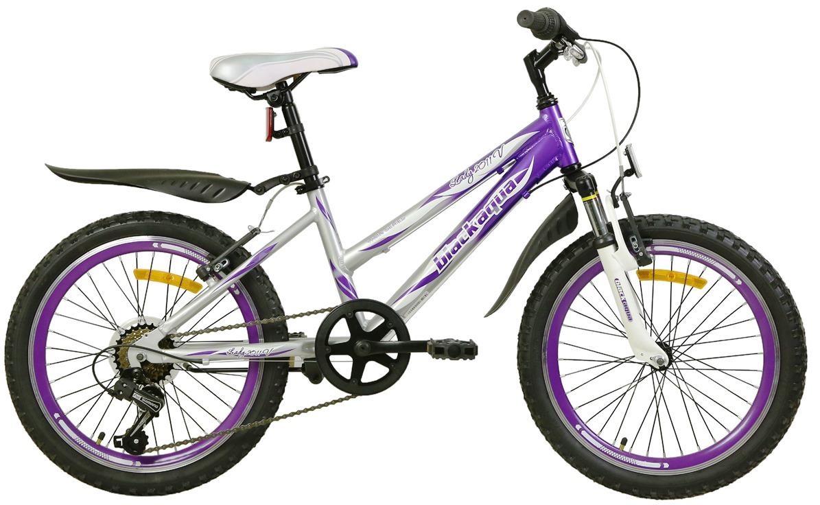 """Велосипед 20"""" Black Aqua Lady 2011V GW-B501 6ск, алюминиевая рама, V-br, серебро-фиолетовый"""