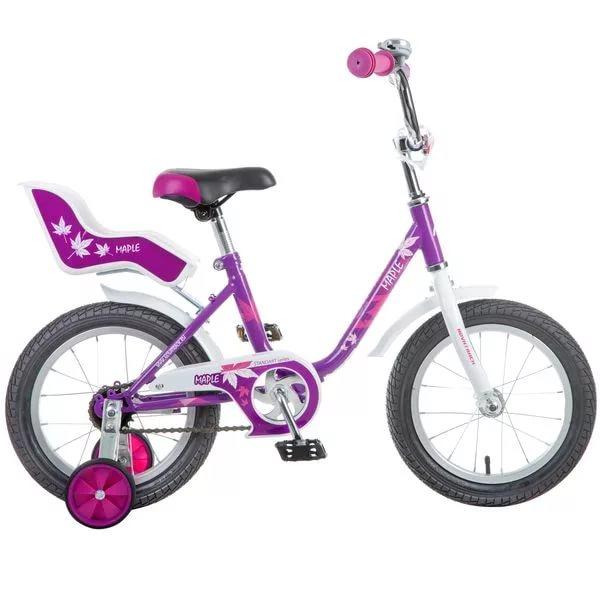 """Велосипед 14"""" Novatrack Maple сиреневый"""