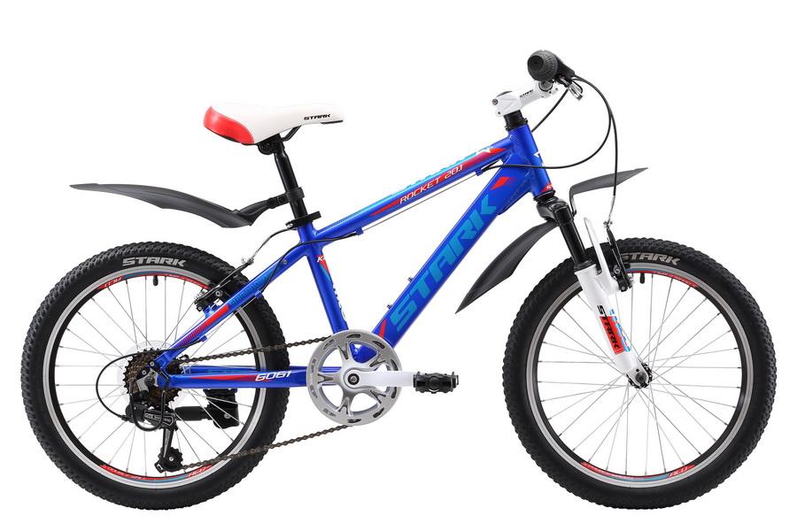 """Велосипед 20"""" Stark Rocket 20.1 V, 7ск, AL, V-br, сине-красный, модель 2017"""