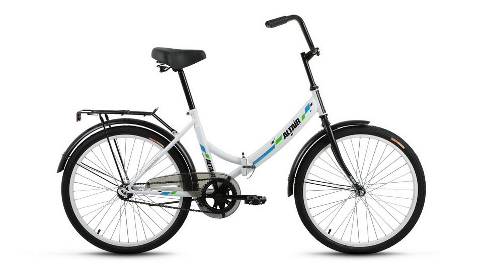 """Велосипед 24"""" Altair City складной, St, белый"""
