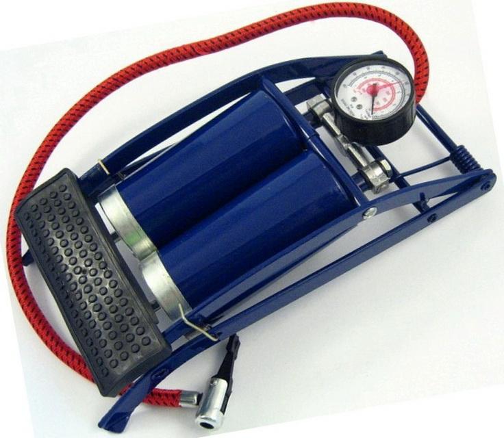 Насос FP980-D (ножной) двухцилиндровый, с манометром   ч