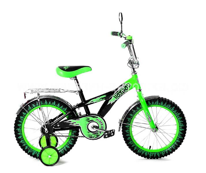 """Велосипед 14"""" Black Aqua Hot-Rod KG1406 зелёный (цветные покрышки), 2017г."""