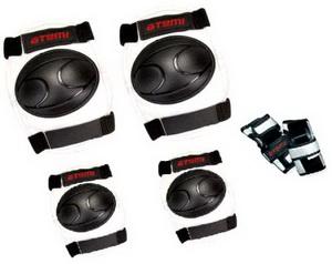 Велоформа Защита детская ASGK-01, р.S, набор (колени+локти+кисти), чёрно-красная