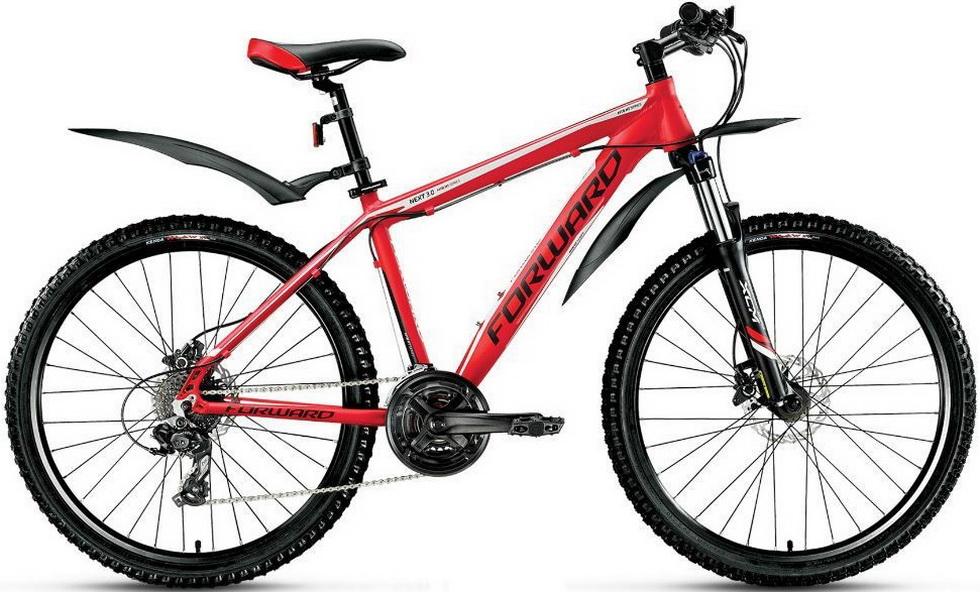 """Велосипед 26"""" Forward Next 3.0 (19"""") 24ск, AL, Disc, красный, 2017г."""